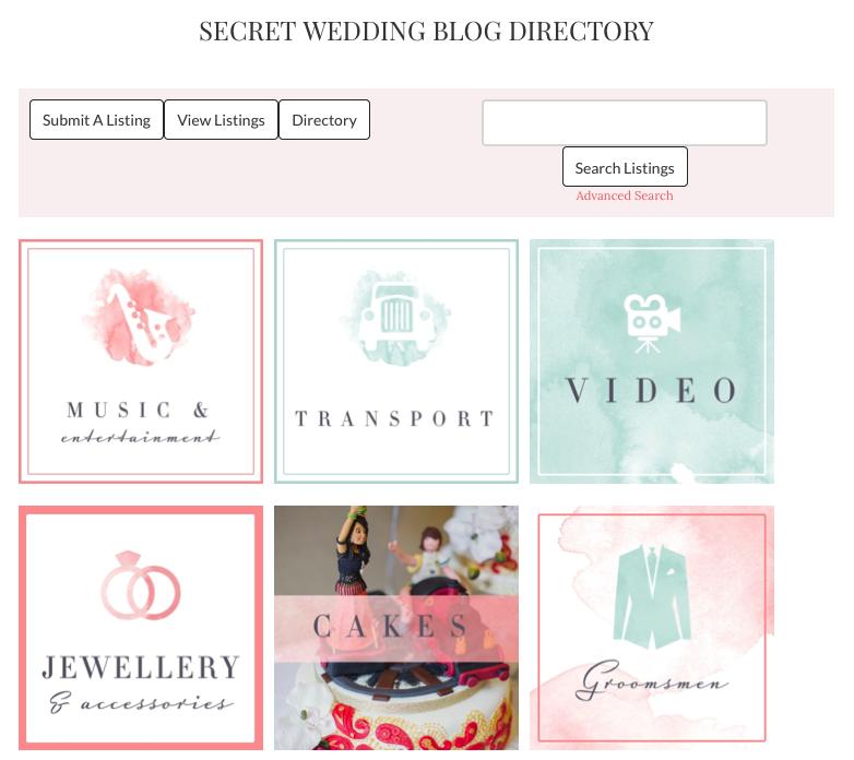 The Secret Wedding Blog uses a WordPress custom directory.