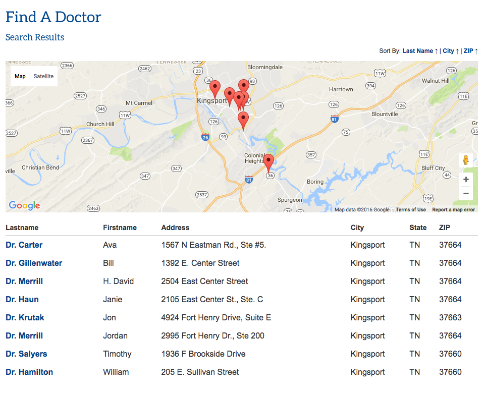 One of the best business directory websites, the Tennessee Chiropractic Association.