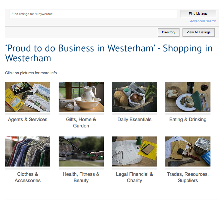 The Westerham paid for and free directory.