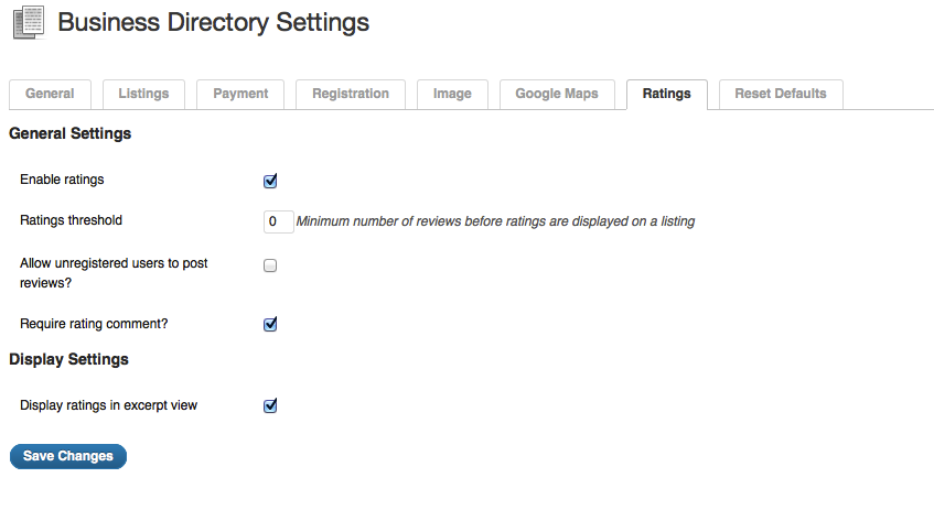 directory review settings