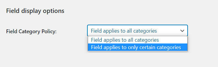 field display options