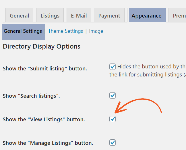 Manage Users Listing Setting