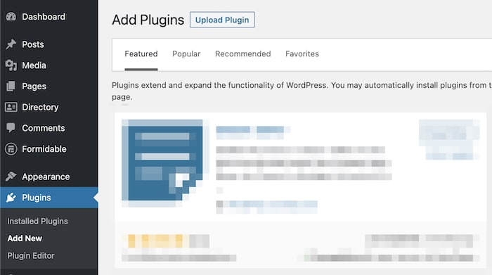 adding WordPress plugin
