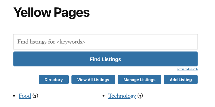 directory front-end top