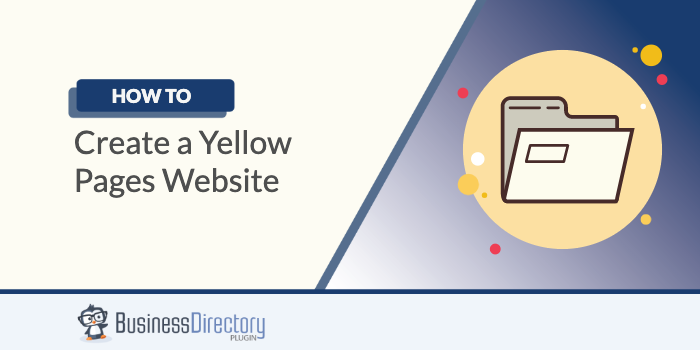 how to create yellow pages website