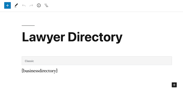 lawyer directory page backend