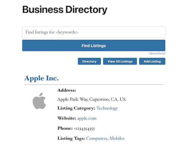 business directory english all