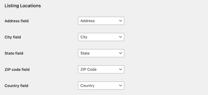 google maps module form fields