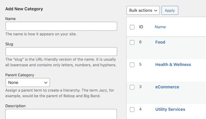 link directory categories