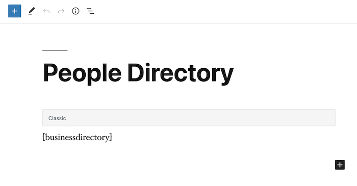 people directory back end