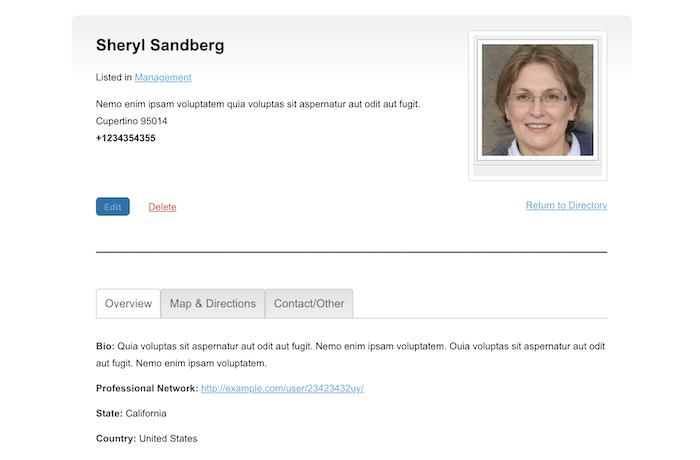 people directory single profile