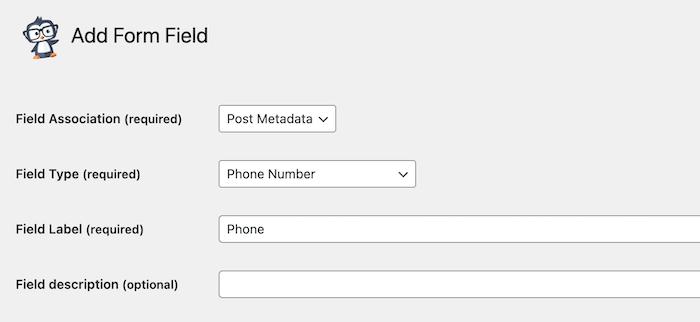 phone field type
