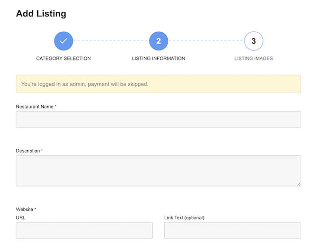 add restaurant listing