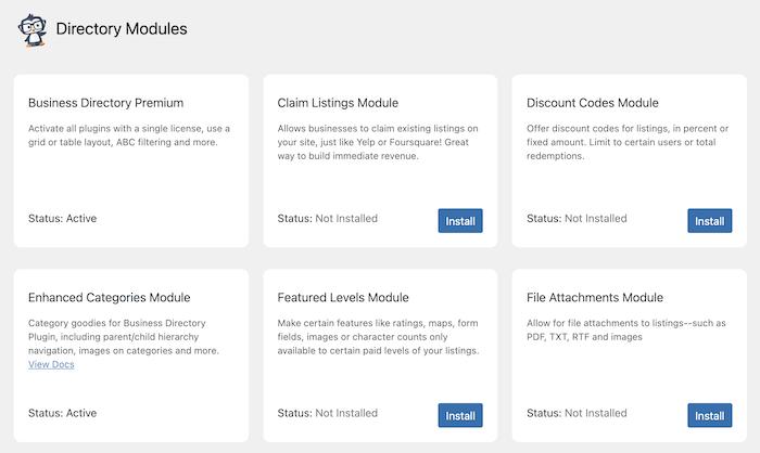 bd modules all