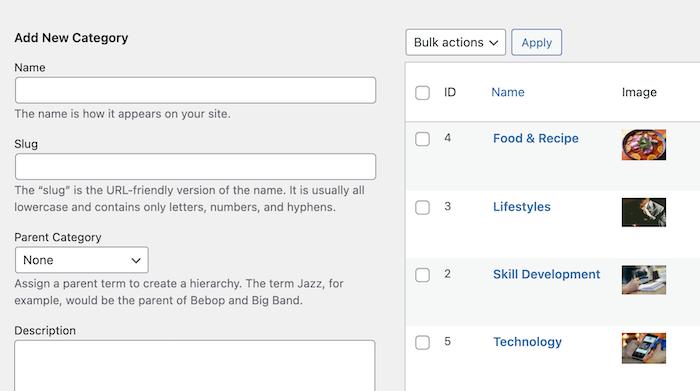 blog directory categories
