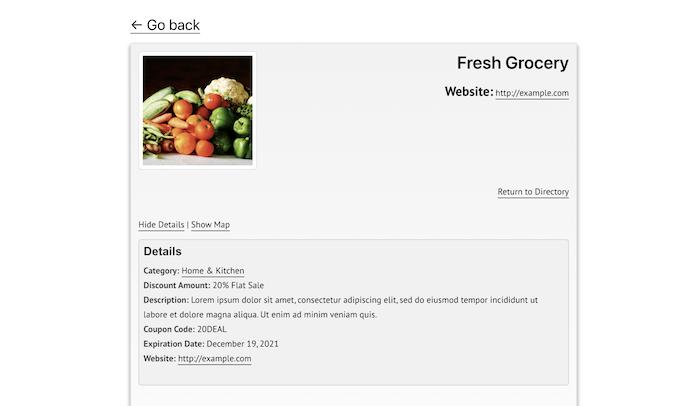 coupon directory single item