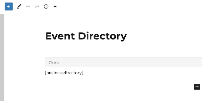 event directory main backend