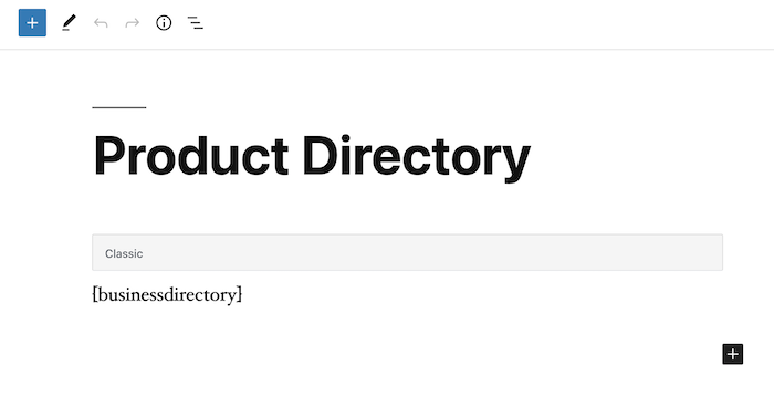 product directory main back