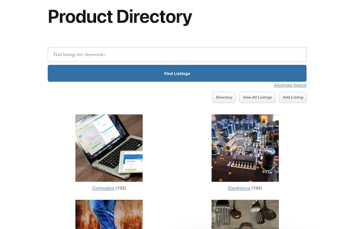 product directory main