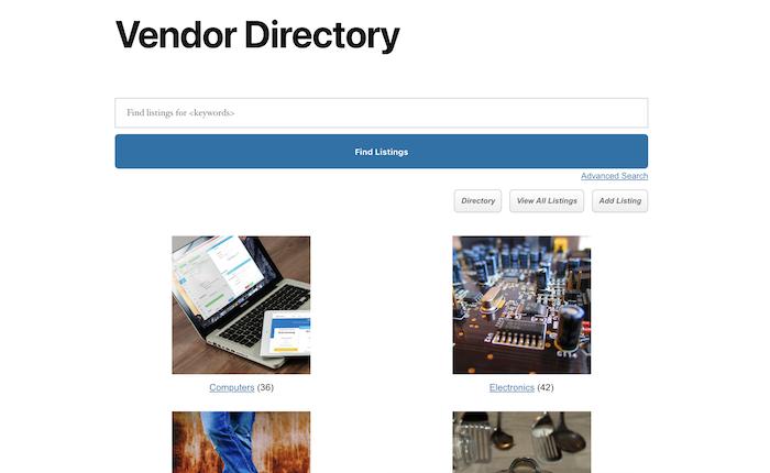 vendor directory main archive