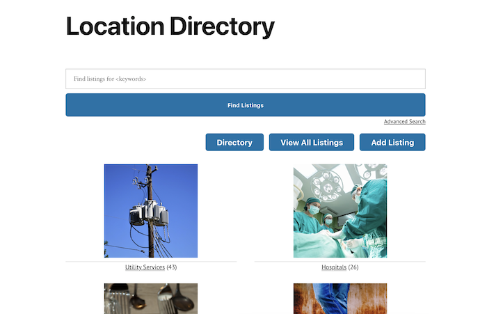 location directory main archive