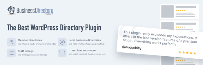 The Business Directory Plugin is a powerful option for a WordPress chamber of commerce plugin.