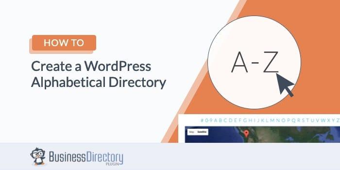 wordpress alphabetical directory