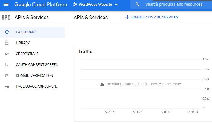 Using Google's Developer Console to set up a Google Get Directions button.