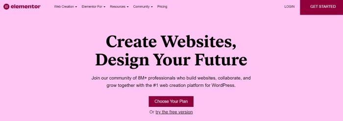 Elementor is a powerful page builder for WordPress sites.