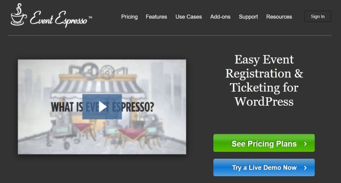 Event Espresso is one of the best WordPress plugins for hosting events.