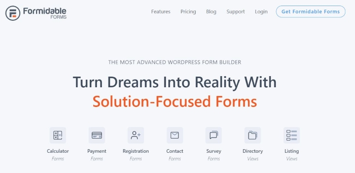 Formidable Forms is one of the best WordPress plugins for your business.