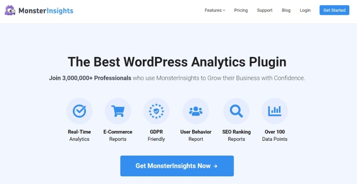 MonsterInsights is a powerful analytics tool and one of the best WordPress plugins.
