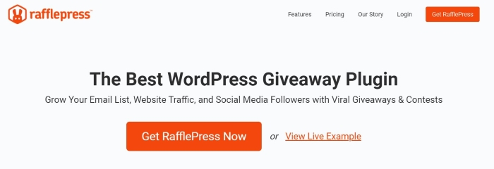 RafflePress enables you to host contests and giveaways on your site.
