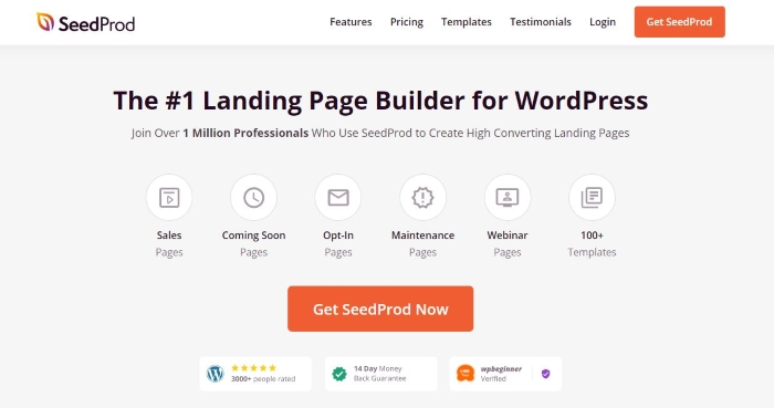 The page builder SeedProd is one of the best WordPress plugins for businesses.