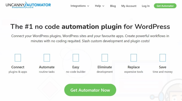 Uncanny Automator is one of the best WordPress plugins for streamlining your workflow.