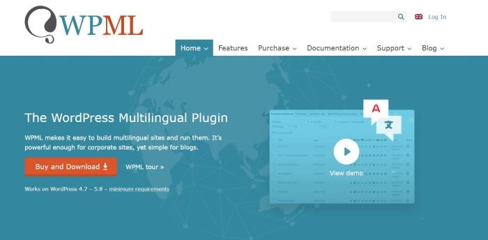 The WPML plugin homepage