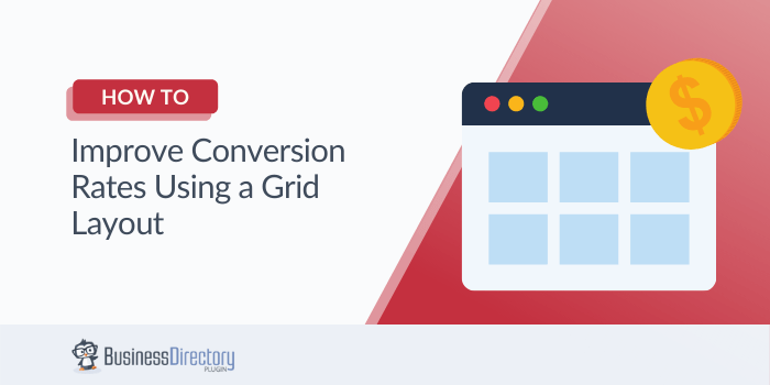 How to improve conversion rates using a grid layout